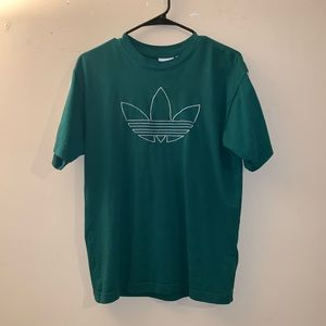 Adidas Green Outline Trefoil T-shirt